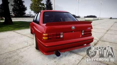 BMW E30 M3 для GTA 4 вид сзади слева