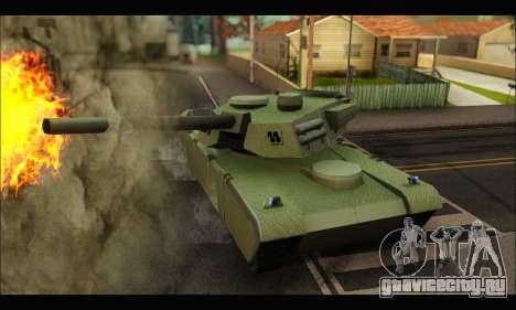 Retextured Rhino Tank для GTA San Andreas вид сзади слева