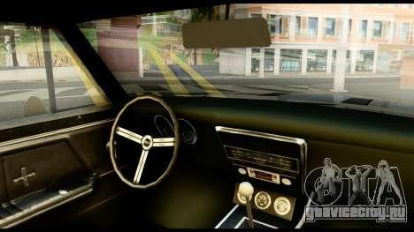 Chevrolet Camaro SS для GTA San Andreas вид сзади слева