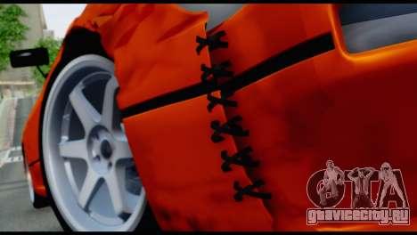 Nissan Silvia S13 Missile для GTA San Andreas вид сзади