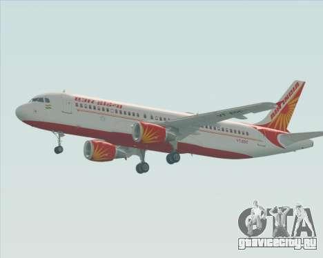 Airbus A320-200 Air India для GTA San Andreas вид сзади слева