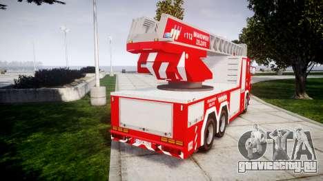 Scania R580 Belgian Fireladder [ELS] для GTA 4 вид сзади слева