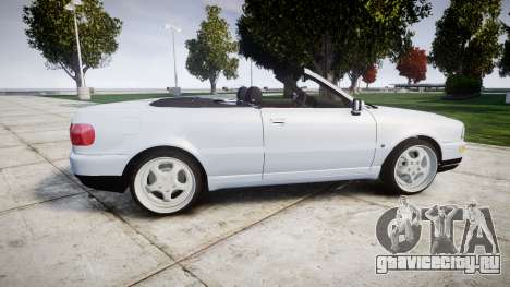 Audi 80 Cabrio euro tail lights для GTA 4 вид слева