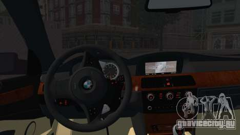 BMW M5 E60 Georgia Police для GTA San Andreas вид сзади слева