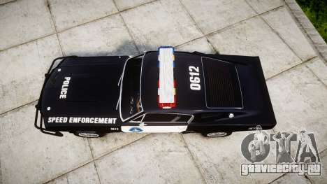 Ford Shelby GT500 Eleanor Police [ELS] для GTA 4 вид справа