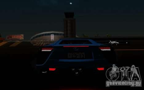 Lexus LF-A 2010 для GTA San Andreas салон