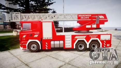 Scania R580 Belgian Fireladder [ELS] для GTA 4 вид слева