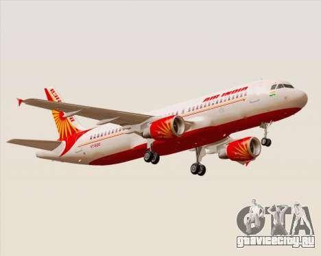 Airbus A320-200 Air India для GTA San Andreas вид сверху