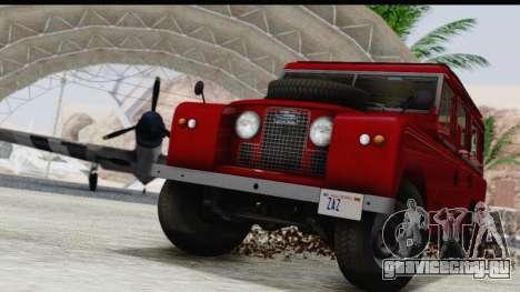 Land Rover Series IIa LWB Wagon 1962-1971 для GTA San Andreas вид сбоку