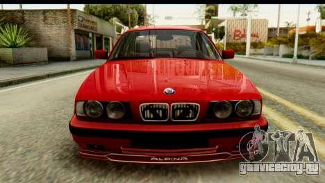 BMW M5 E34 Alpina для GTA San Andreas вид сзади