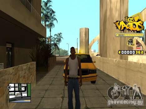 C-HUD Los Santos Vagos Gang для GTA San Andreas второй скриншот