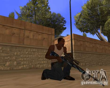 Blue Chrome Weapon Pack для GTA San Andreas второй скриншот