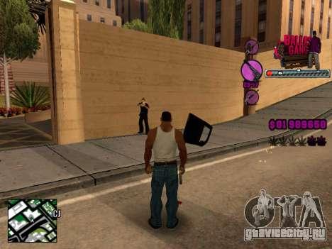 C-HUD Ballas TAWER для GTA San Andreas третий скриншот