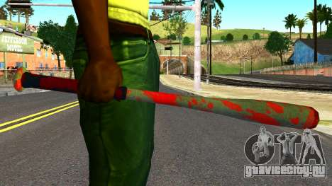 Baseball Bat with Blood для GTA San Andreas третий скриншот