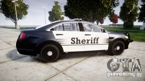Ford Taurus 2014 County Sheriff [ELS] для GTA 4 вид слева