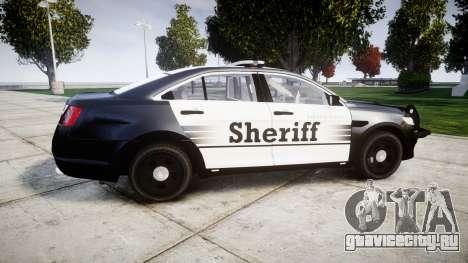 Ford Taurus 2014 County Sheriff [ELS] для GTA 4 вид слева