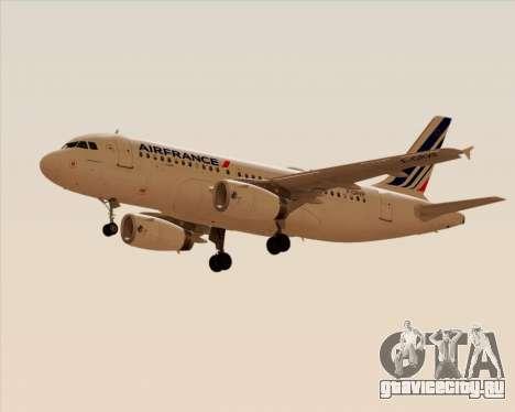 Airbus A319-100 Air France для GTA San Andreas вид справа