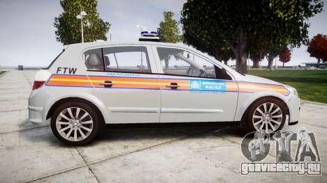 Vauxhall Astra 2009 Police [ELS] 911EP Galaxy для GTA 4 вид слева
