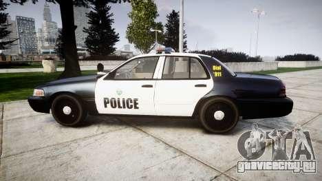 Ford Crown Victoria Ontario Police [ELS] для GTA 4 вид слева
