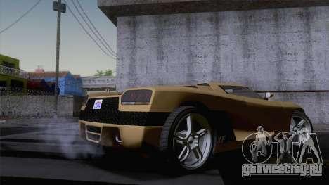 GTA V Overflod Entity XF v.2 (IVF) для GTA San Andreas вид сзади слева