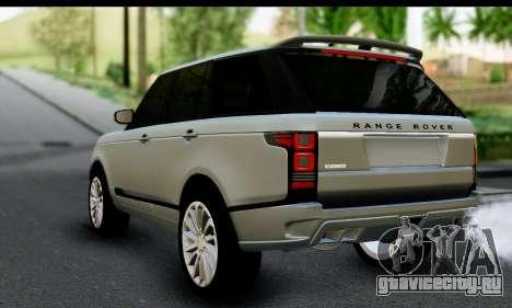 Range Rover IV 3.0 AT для GTA San Andreas вид слева