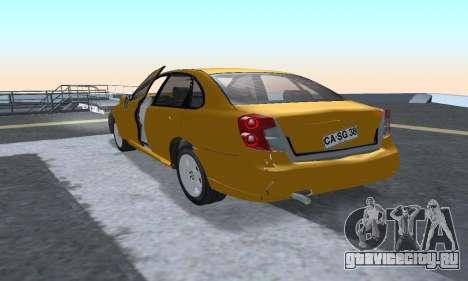 Chevrolet Lacetti для GTA San Andreas вид сзади