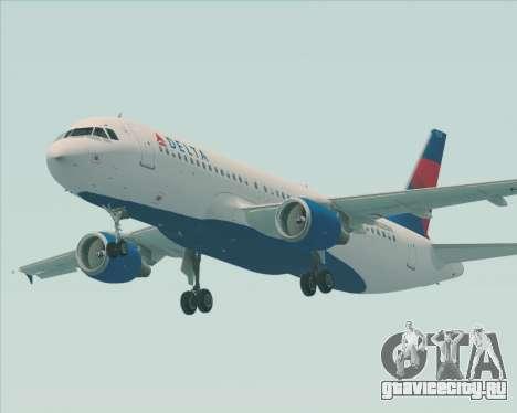 Airbus  A320-200 Delta Airlines для GTA San Andreas вид справа