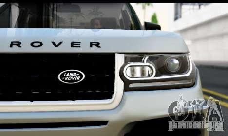 Range Rover IV 3.0 AT для GTA San Andreas вид сзади слева