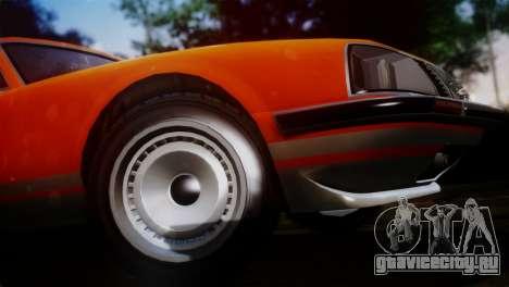 GTA 5 Lampadati Pigalle SA Plate для GTA San Andreas вид сзади слева