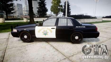 Ford Crown Victoria Highway Patrol [ELS] Slickto для GTA 4 вид слева