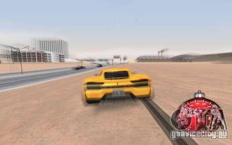 Новогодний спидометр 2015 для GTA San Andreas третий скриншот
