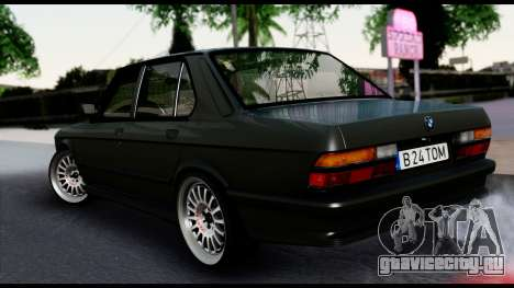 BMW M5 E28 Christmas Edition для GTA San Andreas вид слева