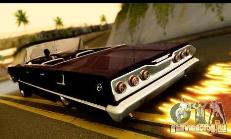 Chevrolet Impala 1963 для GTA San Andreas вид сзади