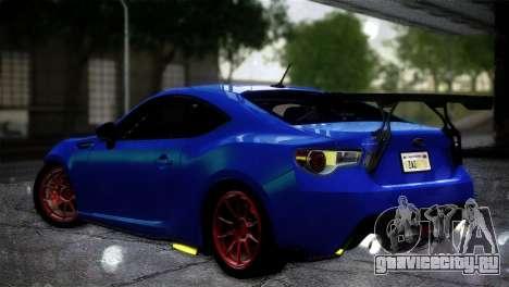 Subaru BRZ Drift Built для GTA San Andreas вид слева