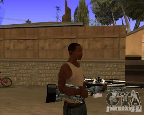 Blue Chrome Weapon Pack для GTA San Andreas пятый скриншот