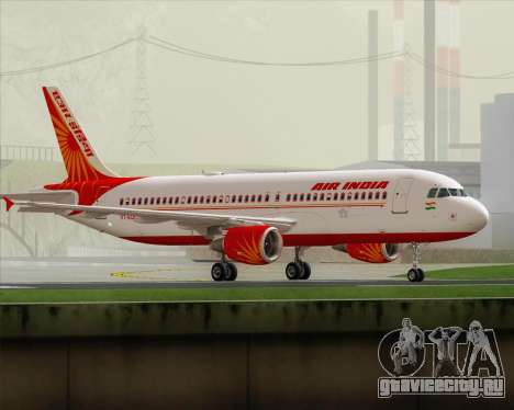 Airbus A320-200 Air India для GTA San Andreas вид слева