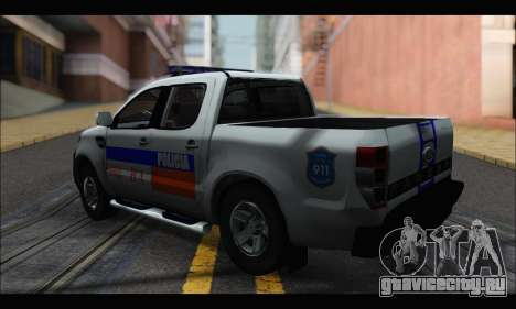 Ford Ranger P.B.A 2015 для GTA San Andreas вид слева
