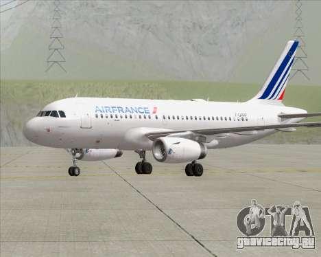 Airbus A319-100 Air France для GTA San Andreas вид сзади слева