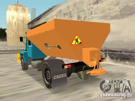 ГАЗ 3309 Снегоуборочная для GTA San Andreas вид слева