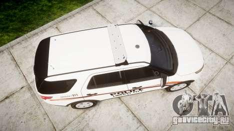 Ford Explorer 2013 Police Interceptor [ELS] для GTA 4 вид справа