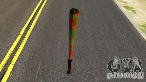Baseball Bat with Blood для GTA San Andreas второй скриншот