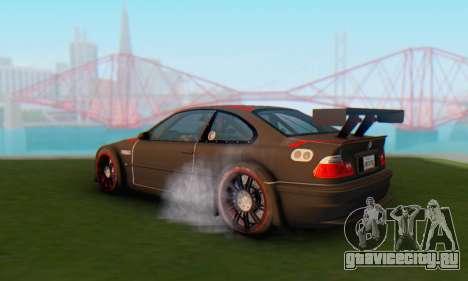 BMW M3 GTR для GTA San Andreas вид слева