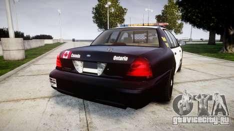 Ford Crown Victoria Ontario Police [ELS] для GTA 4 вид сзади слева
