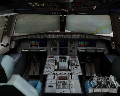 Airbus A380-800 Philippine Airlines для GTA San Andreas салон