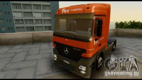 Mercedes-Benz Actros PJ1 для GTA San Andreas вид изнутри