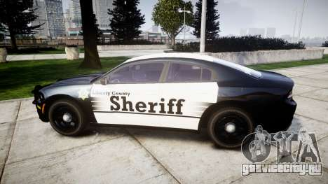 Dodge Charger 2015 County Sheriff [ELS] для GTA 4 вид слева