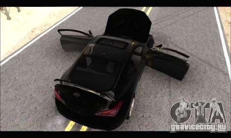 Hyundai Genesis Coupe 3.8 2013 для GTA San Andreas вид сзади слева