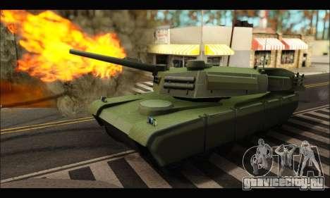 Retextured Rhino Tank для GTA San Andreas вид слева