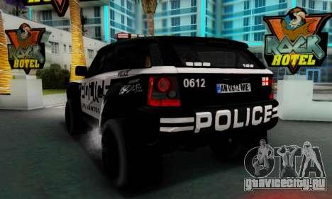 Bowler EXR S 2012 v1.0 Police для GTA San Andreas вид справа