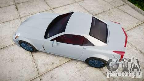 Cadillac XLR-V 2009 для GTA 4 вид справа